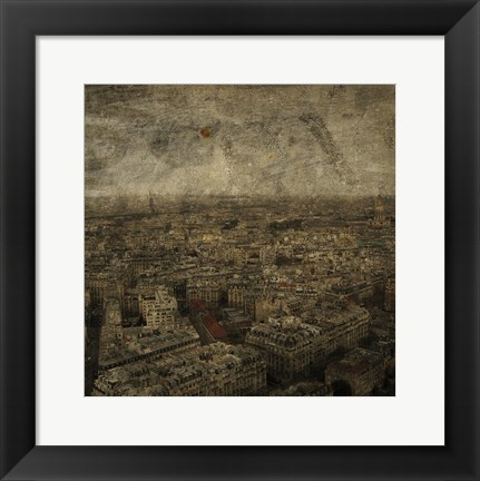 Framed Paris Skyline IV Print