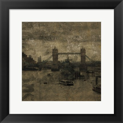 Framed Tower Bridge I Print