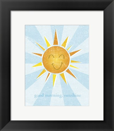 Framed Sunshine II Print