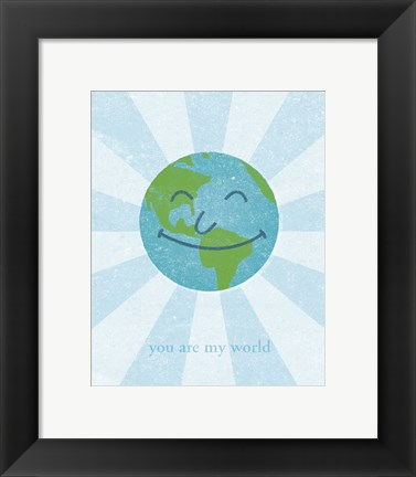Framed World II Print