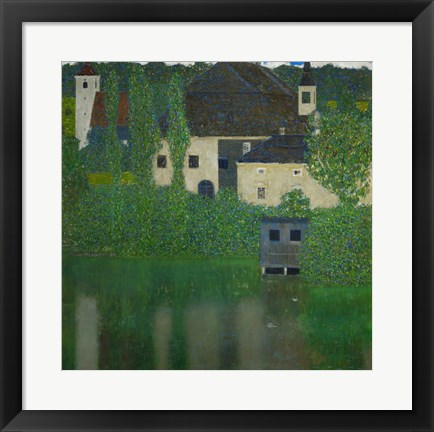 Framed Unterach Manor On The Attersee Lake In Austria,  1915-1916 Print