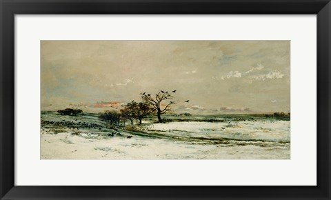 Framed Winter, 1873 Print