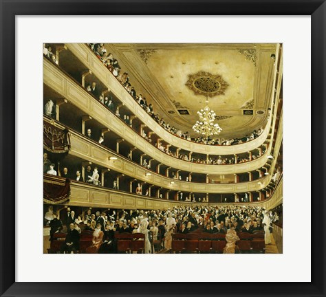 "Framed Auditorium In The """"Altes Burgtheater"""", 1888 Print"