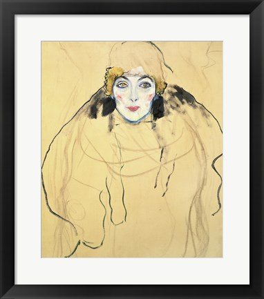 Framed Female Head, 1917-1918 Print