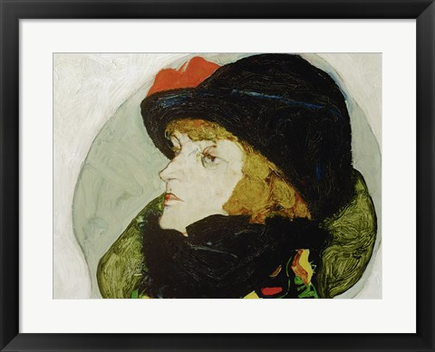 Framed Portrait Of Ida Roessler, 1912 Print