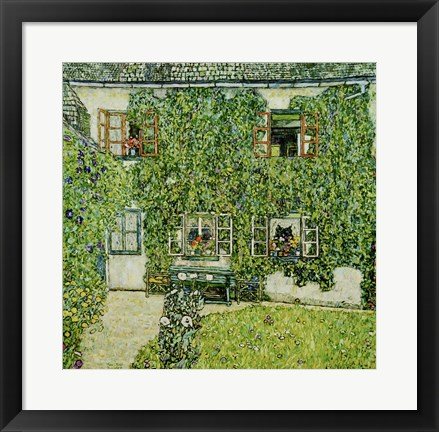 Framed Forsthaus In Weissenbach Am Attersee - Forestry House In Weissenbach On Attersee-Lake, 1912 Print