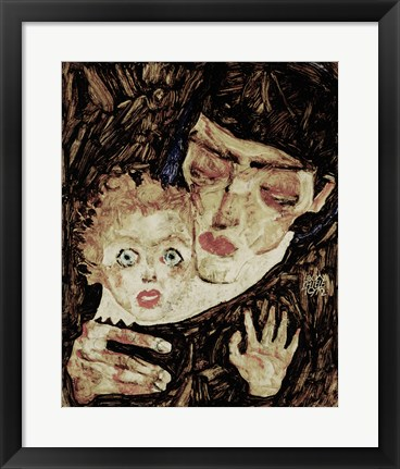 Framed Mother And Child II, 1912 Print