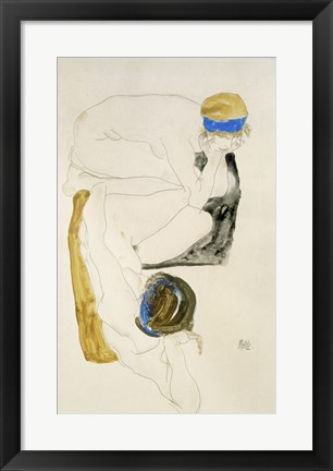 Framed Two Reclining Figures, 1912 Print