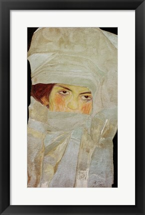 Framed Artist'S Sister Melanie With Silver-Colored Scarves, 1908 Print