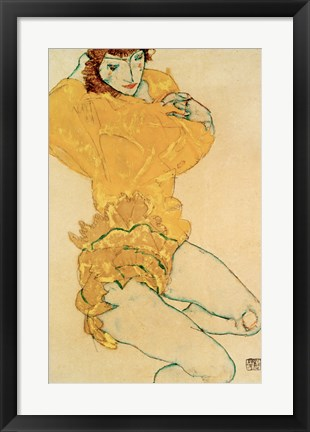 Framed Woman Undressing, 1914 Print