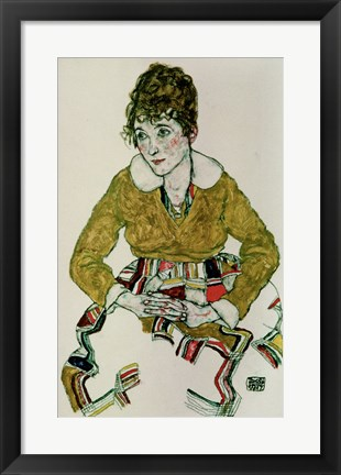 Framed Portrait Of The Artist's Wife, 1917 Print