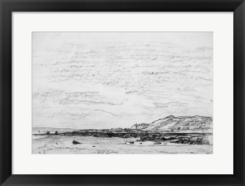 Framed Low Tide at the Coast Print