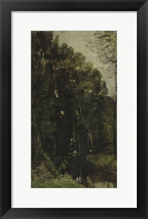 Framed Forest And Brook Print
