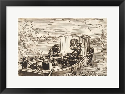 Framed Luncheon on the boat (Dejeuner en bateau) Print
