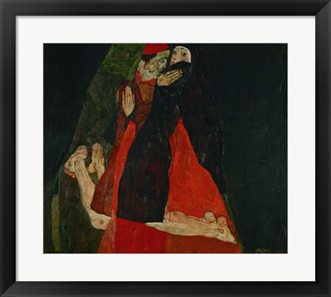 Framed Cardinal And Nun (Liebkosung), 1912 Print