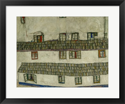 Framed Old Houses (Krumlov, Bohemia), 1917 Print