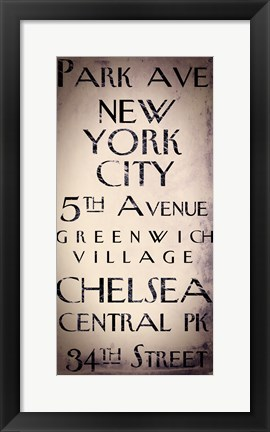Framed New York City Print