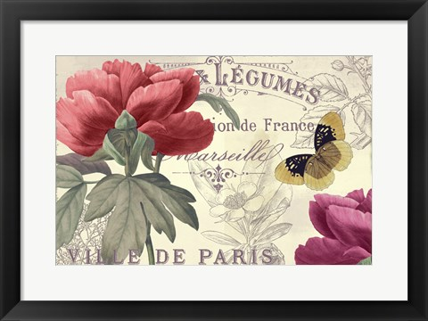 Framed Petals of Paris V Print