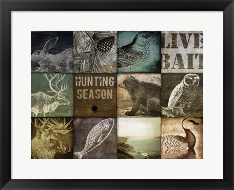 Framed Hunting Season I Print