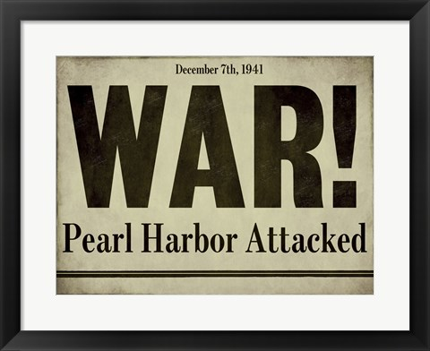 Framed Pearl Harbor Print