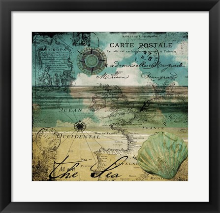 Framed Ocean Clouds II Print