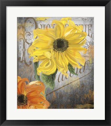 Framed Sunflower Studio Print