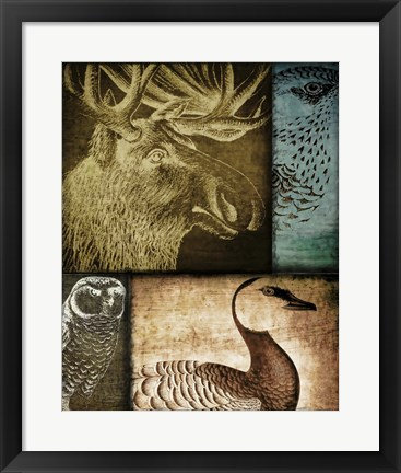 Framed Hunting Season III Print