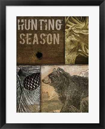 Framed Hunting Season IV Print