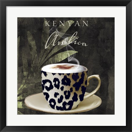 Framed Afrikan Coffee I Print