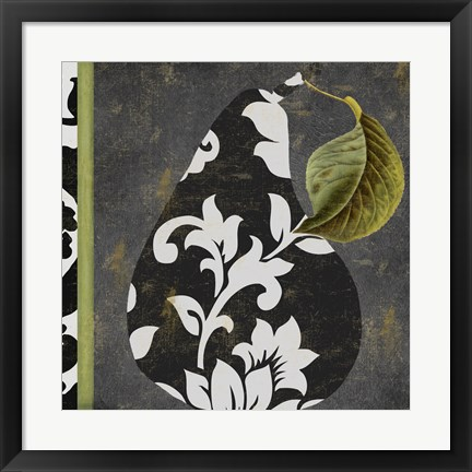 Framed Decorative Pear II Print