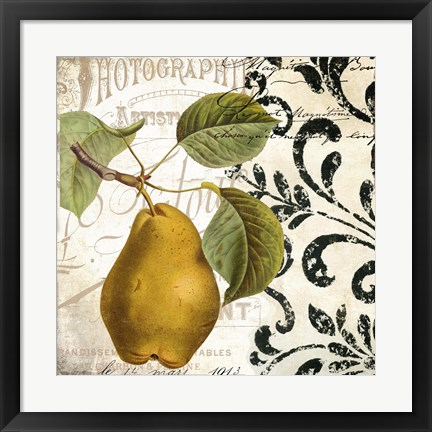 Framed Les Fruits Jardin I Print