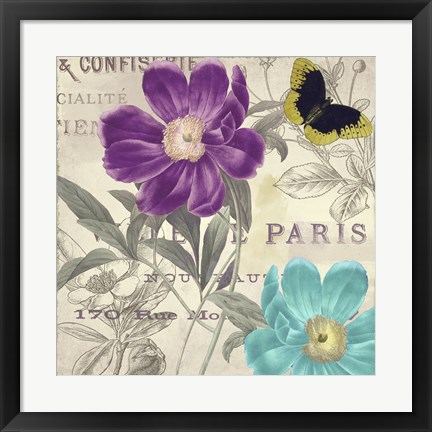 Framed Petals of Paris II Print