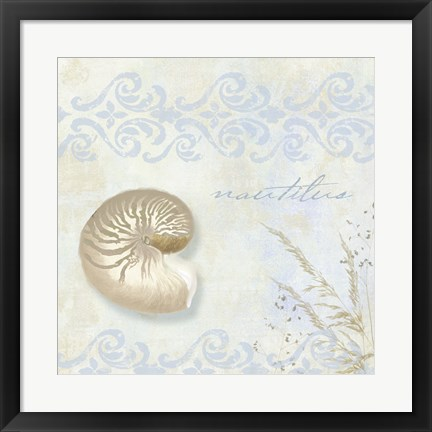 Framed She Sells Seashells I Print