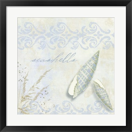 Framed She Sells Seashells II Print