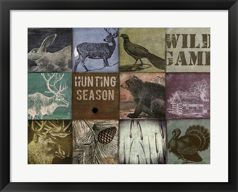 Framed Cabela hunting season 12 patch Print