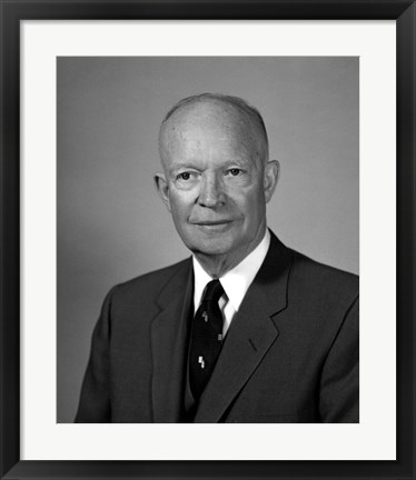 Framed President Dwight Eisenhower Print