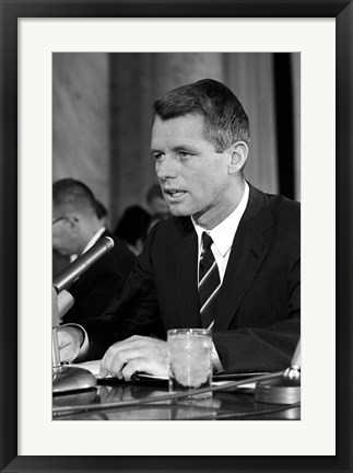 Framed Robert Kennedy Speaking Print