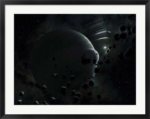 Framed Tyche ( Hypothetical Planet) Print