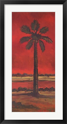 Framed Crimson Palm II Print