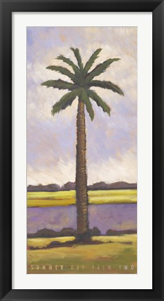 Framed Summer Day Palm Two Print