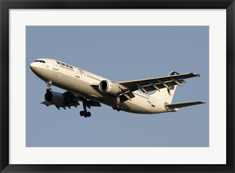 Framed Airbus A310 of Iran Air Print