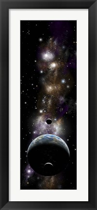 Framed Earth-Like Planet Print
