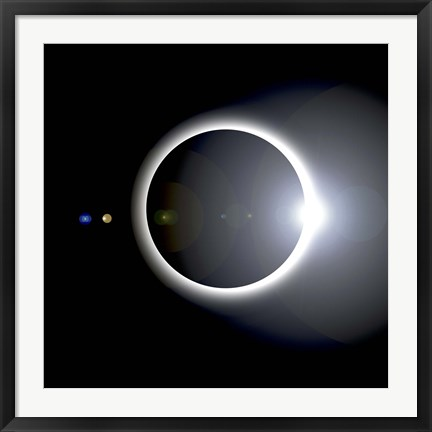 Framed Solar Eclipse Print