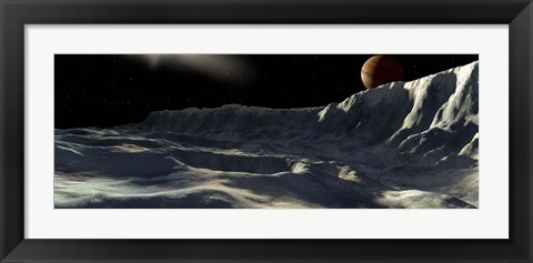 Framed Ice Scarp on Callisto Print