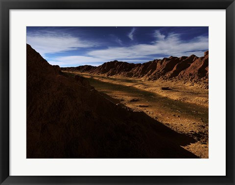 Framed River on Mars Print