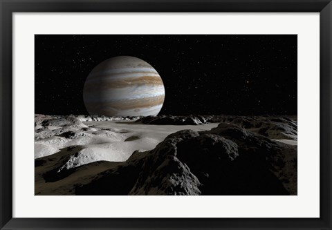 Framed Jupiter's Large Moon, Europa Print