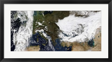 Framed Eastern and Southern Europe Print