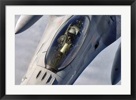 Framed Belgian F-16 Fighting Falcon Print