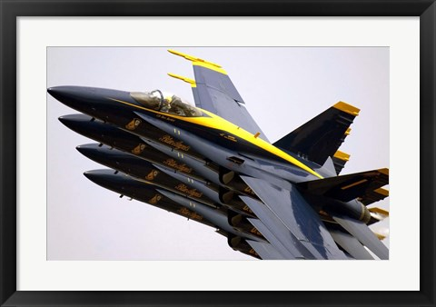 Framed Four Blue Angels F/A-18C Hornets Print