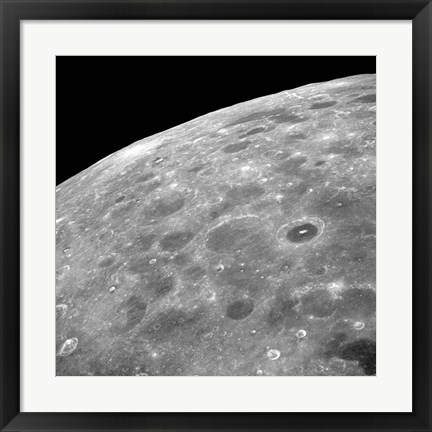 Framed Lunar Surface Print